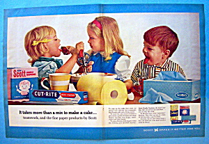 Vintage Ad: 1963 Scott Paper Products (Image1)