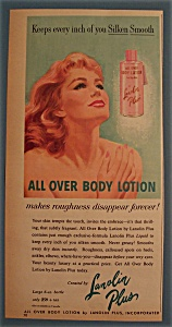 Vintage Ad: 1958 Lanolin Plus Body Lotion (Image1)