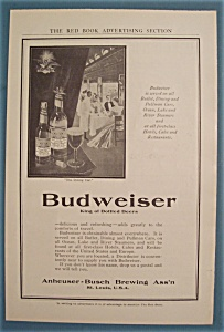 1906 Budweiser Beer With The Dining Car