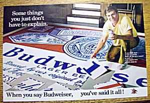 1972 Budweiser Beer with Man Building Puzzle (Image1)