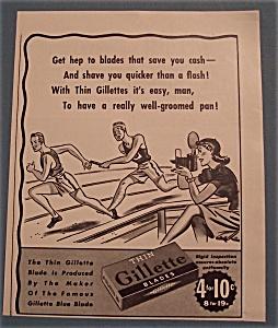 Vintage Ad: 1940 Gillette Blades (Image1)