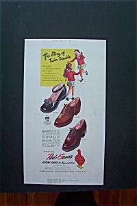 1947 Red Goose Shoes with Twin Girls  (Image1)
