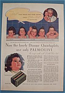 Vintage Ad: 1936 Palmolive Soap w/ Dionne Quints (Image1)