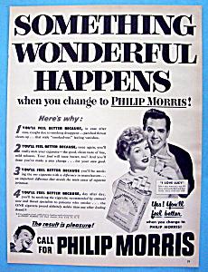 1953 Philip Morris Cigarettes w/ Desi & Lucille Ball (Image1)