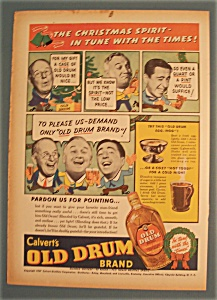 Vintage Ad: 1937 Calvert's Old Drum Whiskey (Image1)