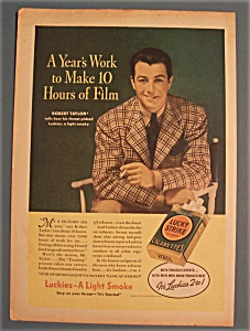 1937 Lucky Strike Cigarettes with Robert Taylor (Image1)