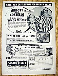 1949 Castle Film with Abbott & Costello-Fun On The Run (Image1)