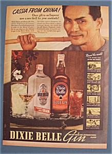 Vintage Ad:1937 Dixie Belle Gin W/ Cassia From China