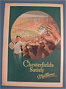 1937 Chesterfield Cigarettes w/ Man Throwing Cigarettes (Image1)