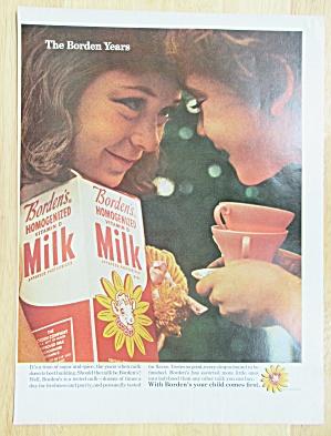 1965 Borden's Homogenized Milk with Woman & Girl (Image1)