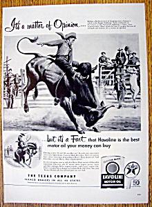 Vintage Ad: 1952 Havoline Motor Oil (Image1)
