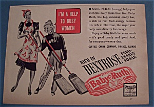 Vintage Ad: 1939 Curtiss Baby Ruth Candy Bar