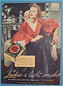 1936 Lucky Strike Cigarettes w/Woman with Cigarette (Image1)