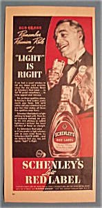 1939 Schenley's Light Red Label Whiskey W/man Talking