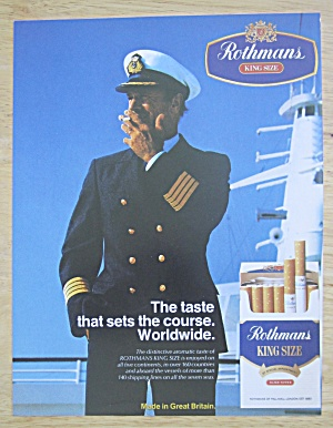 1987 Rothman's King Size Cigarettes with Sailor (Image1)