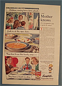 Vintage Ad: 1939 Campbell's Vegetable Soup (Image1)
