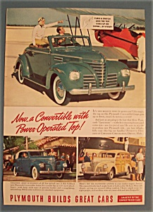 Vintage Ad: 1939 Plymouth (Image1)