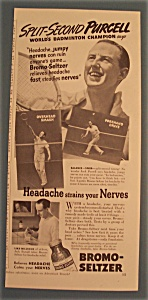 Vintage Ad: 1939 Bromo-Seltzer with Jack Purcell (Image1)