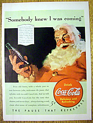 1940 Coca-Cola (Coke) with Santa Claus (Image1)