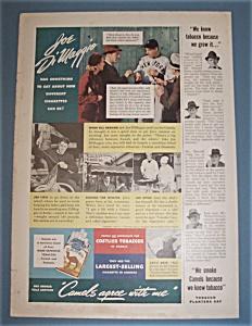 Vintage Ad: 1938 Camel Cigarettes w/ Joe DiMaggio (Image1)
