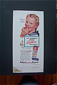 1948 Ballard Biscuits with Little Girl with Biscuit  (Image1)