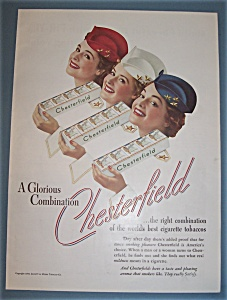 1939 Chesterfield Cigarettes with 3 Lovely Women (Image1)