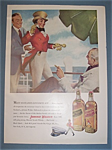 Vintage Ad: 1949 Johnnie Walker Red & Black Label (Image1)