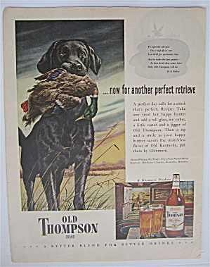 1946 Old Thompson Whiskey with Dog & Duck (Image1)