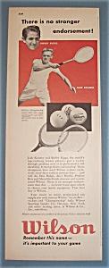 Vintage Ad: 1948 Wilson w/B. Riggs & J. Kramer (Image1)