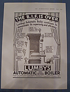 Vintage Ad: 1935 Lumby's Automatic Boiler