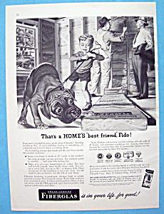 1952 Owens Corning Fiberglas Insulation w/Boy & Dog (Image1)