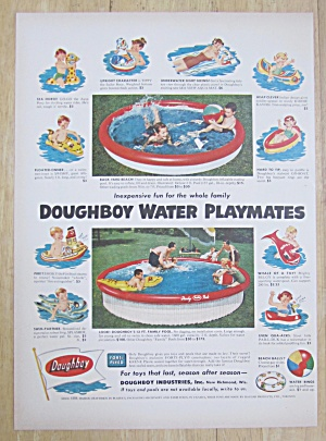 1954 Doughboy Water Playmates W/ Different Water Toys