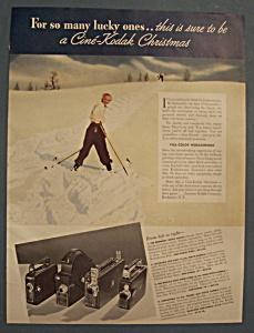 Vintage Ad: 1937 Cine - Kodak Camera (Image1)