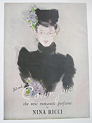 1946 Coeur Joie Perfume With Lovely Woman In Black (Image1)