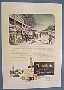 Vintage Ad: 1946 Philadelphia Blended Whiskey