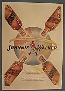 Vintage Ad:1946 Johnnie Walker Red/black Label Whiskey