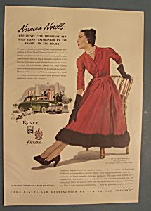 Vintage Ad: 1947 Kaiser-frazer With Norman Norell