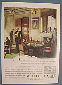 Vintage Ad: 1947 White Horse Blended Scotch Whiskey