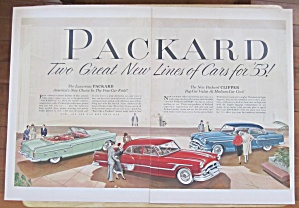 1953 Packard With Great New Lines Of Cars For 1953