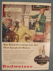 Vintage Ad: 1948 Budweiser Beer (Image1)