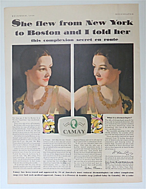 1930 Camay Soap With Two Different Views Of A Woman