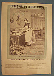 Vintage Ad: 1888 Liebig Company's Extract Of Meat