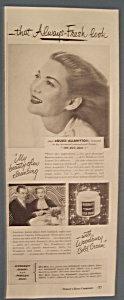 Vintage Ad:1947 Woodbury Cold Cream w/Louise Allbritton (Image1)