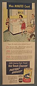 Vintage Ad: 1947 Old Dutch Cleanser (Image1)