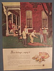 Vintage Ad: 1947 Beer Belongs By John Falter (Image1)