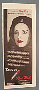 Vintage Ad: 1941 Tangee Red - Red Lipstick
