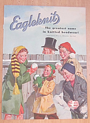 1946 Eagleknit with Children Holding Snowballs  (Image1)