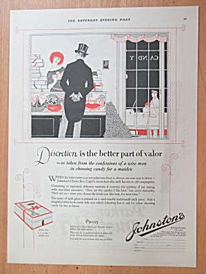 1923 Johnston's Chocolates with Man Buying Candy  (Image1)