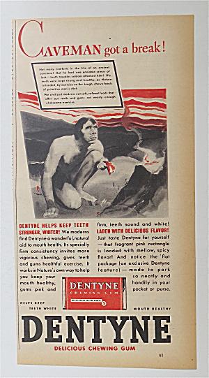 1937 Dentyne Gum with Caveman Got A Break  (Image1)