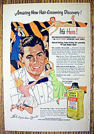 1953 Lucky Tiger For Hair & Scalp with Man's Face (Image1)